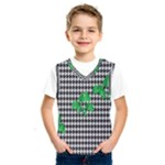 Houndstooth Leaf Kids  Basketball Tank Top
