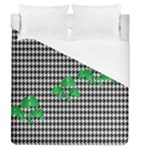 Houndstooth Leaf Duvet Cover (Queen Size)