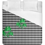 Houndstooth Leaf Duvet Cover (King Size)