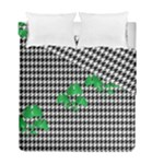 Houndstooth Leaf Duvet Cover Double Side (Full/ Double Size)