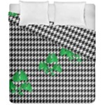Houndstooth Leaf Duvet Cover Double Side (California King Size)