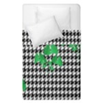 Houndstooth Leaf Duvet Cover Double Side (Single Size)