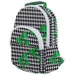 Houndstooth Leaf Rounded Multi Pocket Backpack