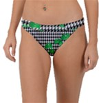 Houndstooth Leaf Band Bikini Bottom