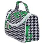 Houndstooth Leaf Satchel Handbag