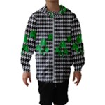 Houndstooth Leaf Kids  Hooded Windbreaker