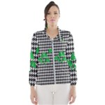 Houndstooth Leaf Women s Windbreaker