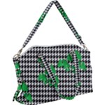 Houndstooth Leaf Canvas Crossbody Bag