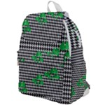 Houndstooth Leaf Top Flap Backpack