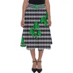 Houndstooth Leaf Perfect Length Midi Skirt