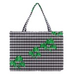 Houndstooth Leaf Medium Tote Bag