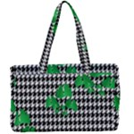 Houndstooth Leaf Canvas Work Bag