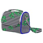 Houndstooth Leaf Satchel Shoulder Bag