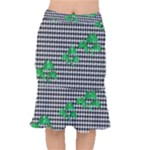 Houndstooth Leaf Short Mermaid Skirt