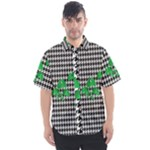 Houndstooth Leaf Men s Short Sleeve Shirt