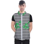 Houndstooth Leaf Men s Puffer Vest