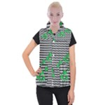 Houndstooth Leaf Women s Button Up Vest