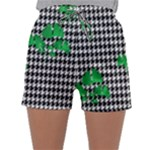Houndstooth Leaf Sleepwear Shorts