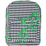 Houndstooth Leaf Full Print Backpack