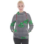 Houndstooth Leaf Women s Hooded Pullover