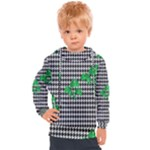 Houndstooth Leaf Kids  Hooded Pullover