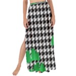 Houndstooth Leaf Maxi Chiffon Tie-Up Sarong
