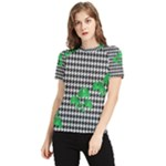 Houndstooth Leaf Women s Short Sleeve Rash Guard