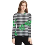 Houndstooth Leaf Women s Long Sleeve Rash Guard