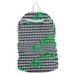 Houndstooth Leaf Foldable Lightweight Backpack
