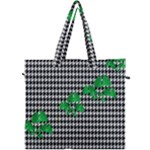 Houndstooth Leaf Canvas Travel Bag