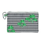 Houndstooth Leaf Canvas Cosmetic Bag (Medium)