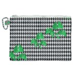 Houndstooth Leaf Canvas Cosmetic Bag (XL)