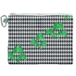 Houndstooth Leaf Canvas Cosmetic Bag (XXL)