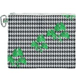 Houndstooth Leaf Canvas Cosmetic Bag (XXXL)