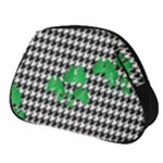 Houndstooth Leaf Full Print Accessory Pouch (Small)