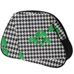 Houndstooth Leaf Full Print Accessory Pouch (Big)
