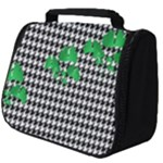 Houndstooth Leaf Full Print Travel Pouch (Big)