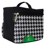Houndstooth Leaf Make Up Travel Bag (Small)