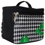 Houndstooth Leaf Make Up Travel Bag (Big)