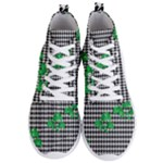Houndstooth Leaf Men s Lightweight High Top Sneakers