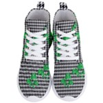 Houndstooth Leaf Women s Lightweight High Top Sneakers