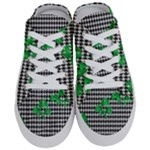 Houndstooth Leaf Half Slippers