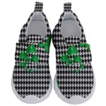 Houndstooth Leaf Kids  Velcro No Lace Shoes