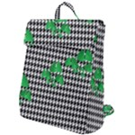 Houndstooth Leaf Flap Top Backpack