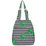 Houndstooth Leaf Center Zip Backpack