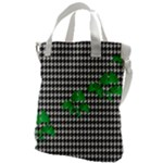 Houndstooth Leaf Canvas Messenger Bag