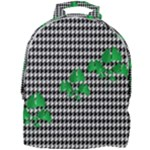 Houndstooth Leaf Mini Full Print Backpack