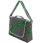 Houndstooth Leaf Box Up Messenger Bag