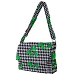 Houndstooth Leaf Full Print Messenger Bag (S)