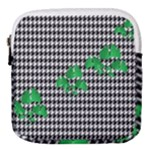 Houndstooth Leaf Mini Square Pouch